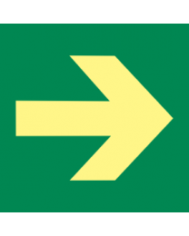 Exit (Arrow) Sign