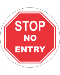 Stop No Entry Sign