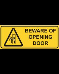 Beware Of Opening Door Sign