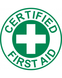 Certified First Aid Sign