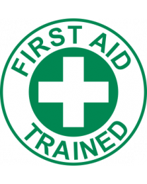First Aid Trained Sign