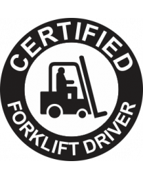 Certified Forklift Driver Sign