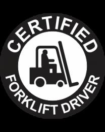 Certified Forklift Driver Sign