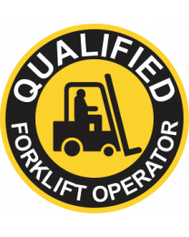 Qualified Forklift Operator Sign