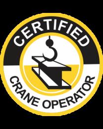 Certified Crane Operator Sign