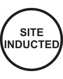 Site Inducted Sign