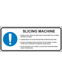 Slicing Machine Instruction Sign