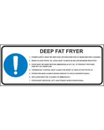 Deep Fat Fryer Sign