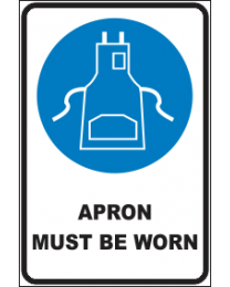 Apron Must Be Worn sign