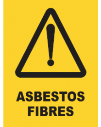Asbestos Fibers Sign
