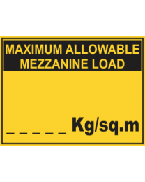 Maximum Allowable Mezzanine Load....Kg/sq.m