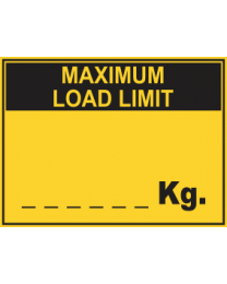 Maximum Load Limit....Kg Sign