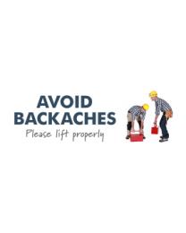 Avoid Backache Please Lift Properly