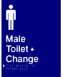 Male Toilet + Change Room Sign