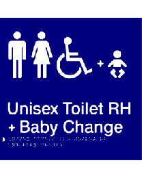 Unisex Toilet RH + Baby Change Sign