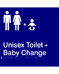 Unisex Toilet + Baby Change Sign