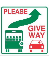 Please Give Way Sign