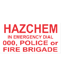 Hazchem In Emergency Dial 000
