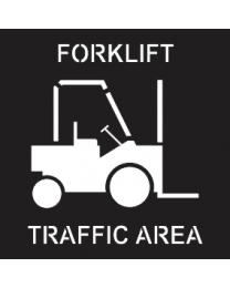 Forklift Traffic Area Sign