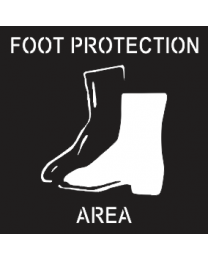 Foot Protection Area Sign