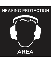 Hearing Protection Area Sign