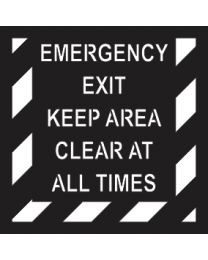 Emergency Exit Keep Area Clear All Times Sign