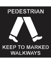 Pedestrains Keep To Marked Walkways Sign