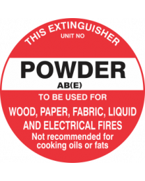 This Extinguisher Unit No.-Powder AB (E)