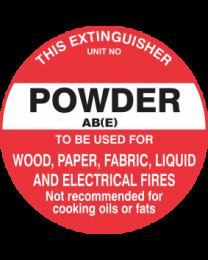 This Extinguisher Unit No.-Powder AB (E)