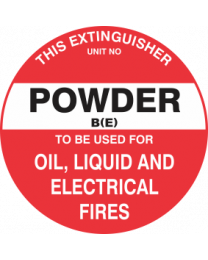 This Extinguisher Unit No.-Powder B (E)