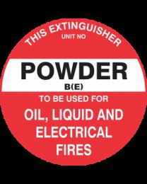 This Extinguisher Unit No.-Powder B (E)