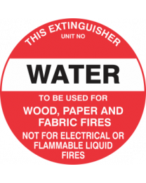This Extinguisher Unit No.-WATER
