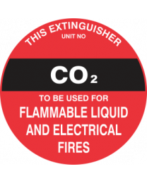 This Extinguisher Unit No.-CO2