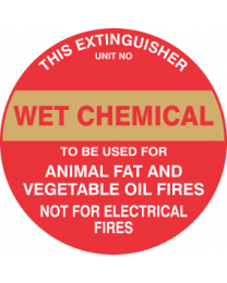 This Extinguisher Unit No.-WET CHEMICAL