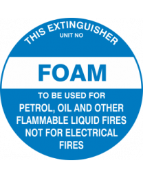 This Extinguisher Unit No.-FOAM