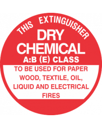 This Extinguisher Unit No.-DRY CHEMICAL A:B (E) CLASS