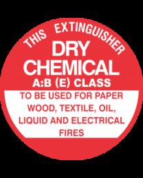 This Extinguisher Unit No.-DRY CHEMICAL A:B (E) CLASS