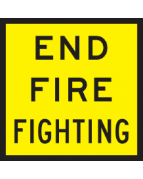 End Fire Fighting Sign