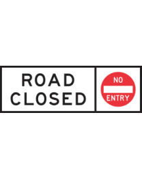 Road Closed No Entry Sign
