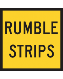 Rumble Strips Sign