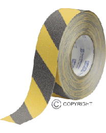 Anti-Slip Tape - Black/Yellow (50mm x 18m)