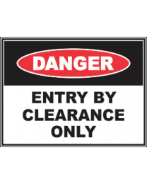 Entry By Clearance Only