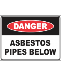 Asbestos Pipes Below