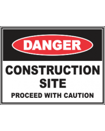 Construction Site Procees with Caution