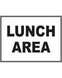 Lunch Area Sign