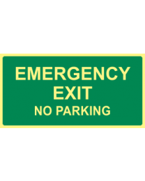 Emergency Exit No Parking Sign