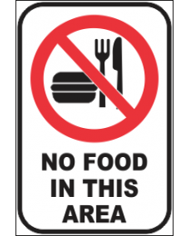 No Food In This Area Sign