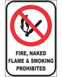 Fire,Naked Flame & Smoking Prohibited Sign