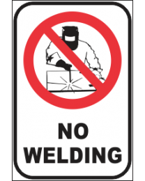 No Welding Sign