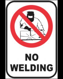 No Welding Sign